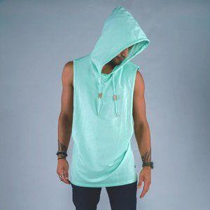 Cuzy T Men's Green Sleeveless Zion Hoodie